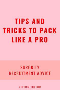 Sorority recruitment tips Sorority Rush Week, Sorority Rush Outfits, Sorority Recruitment Outfits, What Should I Wear, Like A Pro, Stressed Out, Feel Good, Packing, How To Get