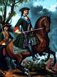 Tsar Peter the Great at the Battle of Poltava, Great Northern War