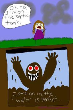 repair Cartoon septic tank