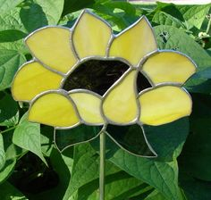 for those who can't GROW flowers LOL Sunflower Garden Stake by theglassmenagerie on Etsy, $20.00