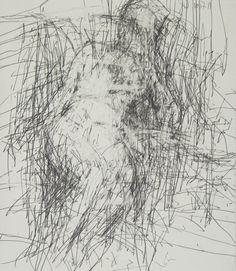 "Jordan Wolfson, Woman Sitting 10.7.11, 2011, graphite on paper, 26""x22"""