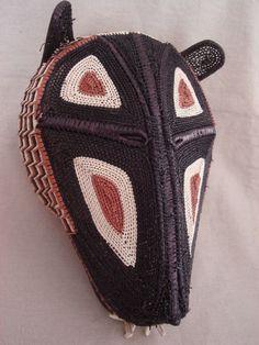 Embera tribe woven tiger mask, Panama