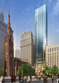 Trinity Church Tower | 68-74 Trinity Place |152m | 499 ft | 44 fl | Pelli Clarke Pelli Associates