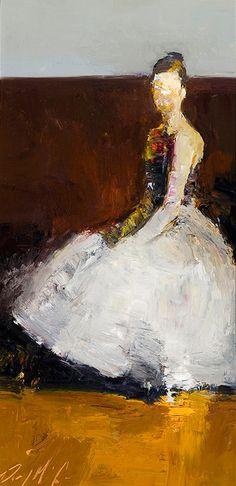 Danny McCaw - Title unknown (seated ballerina)  California-based artist  (b.1978). via Artburgac