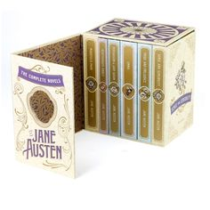 The Complete Novels of Jane Austen Boxeset by The Book Designers, via Behance