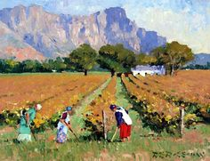 Roelof Rossouw Impressionist Landscape, Watercolor Landscape, Landscape Art, Landscape Paintings, South Africa Art, Meaningful Paintings, Farm Paintings, Building Painting, South African Artists