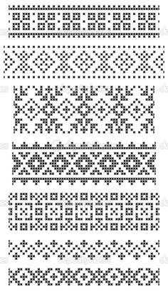 Thrilling Designing Your Own Cross Stitch Embroidery Patterns Ideas. Exhilarating Designing Your Own Cross Stitch Embroidery Patterns Ideas. Crochet Borders, Cross Stitch Borders, Crochet Chart, Filet Crochet, Cross Stitch Patterns, Fair Isle Knitting Patterns, Fair Isle Pattern, Knitting Charts, Knitting Stitches