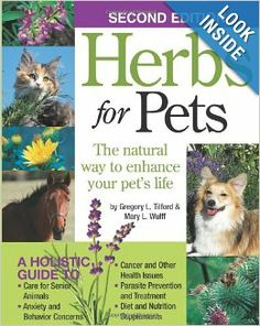 Herbs for Pets, by herbalists and holistic experts Gregory L. Tilford and Mary L. Wulff, is the bible for all pet owners looking to enhance their companion animals' lives through natural therapies.