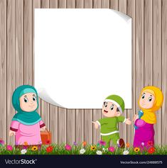 Children are standing and playing with mother vector image on VectorStock Simple Background Images, Kids Background, Student Cartoon, School Cartoon, Poster Background Design, Powerpoint Background Design, Cute Girl Wallpaper, Kids Wallpaper, Drawing For Kids