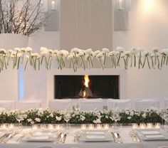 Gorgeous floating centerpiece