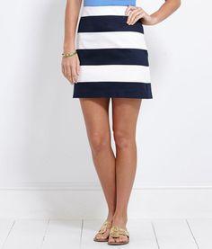 Awning Stripe Skirt | vineyard vines