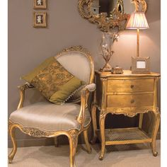 Versailles Gold Bedside Table I'll take the lot of it.