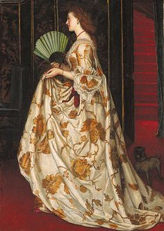 'My Lady Betty' by Valentine Cameron Prinsep,  often known as Val Princep, (1838 –1904) British painter of the Pre-Raphaelite school