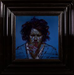 Mat  - Encre et Acrylique sous Perspex - 53 x 53 cm (hors cadre)