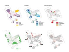 Campus International School for Downtown Cleveland Proposal / OS+A [program diagrams]