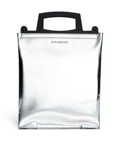 Givenchy Rave Metallic Leather Frame Bag: Space Oddity