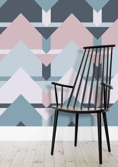 Scandi Waves Wallpaper by Daniela di Niro (@DesigndN) from €45.00 per m² | miPic