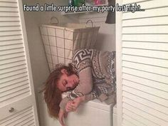 Surprise in the Closet #Funny, #Night, #Party