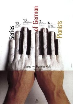 Beautifully conceived & designed poster by German graphic designer Holger Matthies (b 1940). via the designer's site