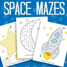 Space Mazes Free Printable Best Picture For space activities for kids writing For Your Taste You are looking for something, and it is going to tell you exactly what you are looking for, and you didn't Space Activities For Kids, Space Crafts For Kids, Mazes For Kids, Printable Activities For Kids, Worksheets For Kids, Stem Activities, Diy For Kids, Preschool Games, Summer Activities