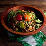 Farro Salad With Tomatoes and Romano Beans might not look delish to everyone but it does to me!