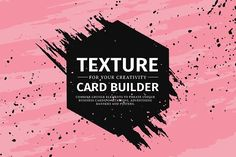 Texture card builder by Uniyok on @creativemarket