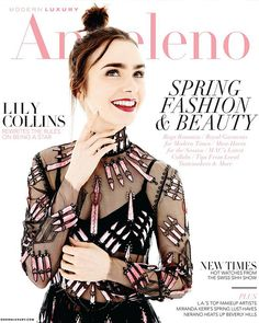 Lily Collins for Angeleno Magazine (March). Pinned by @lilyriverside