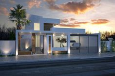 A Startling Fact about Dream House Modern Architecture Ideas Uncovered - homeuntold Dream House Exterior, Dream House Plans, House Floor Plans, Dream Home Design, Modern House Design, Front Yard Design, Home Building Design, Art Deco Home, Home Additions
