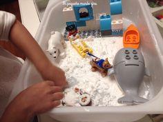 Como hacer nieve casera How To Make Snow, Sensory Table, Mesas De Luz, Homemade