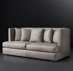 Milo Baughman Model #1038, 1970 Leather Sofa