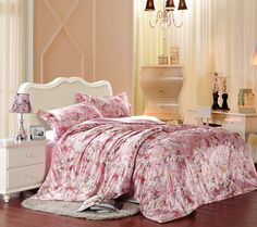 Being In Full Flower Pink Silk Duvet Cover Set Silk Bedding Silk Bedding, Bedding Sets, Pillow Shams, Pillows, Pink Silk, Flat Sheets, Bed Spreads, Duvet Cover Sets, Silk Fabric