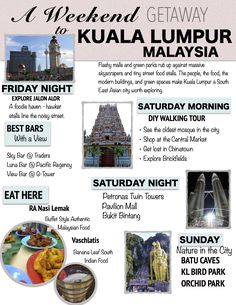 Explore the sights, sounds and smells of Kuala Lumpur on a whirlwind weekend getaway.