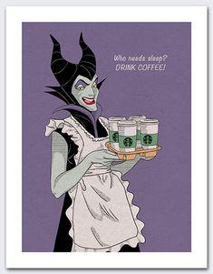 Items similar to Disney Maleficent Sleeping Beauty Villain Coffee on Etsy sleeping beauty Coffee Talk, Coffee Is Life, I Love Coffee, Coffee Break, My Coffee, Coffee Drinks, Morning Coffee, Monday Coffee, Coffee Shop