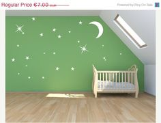 15% OFF FEB SALE Magical stardust Moon and stars by Quirkyworks33