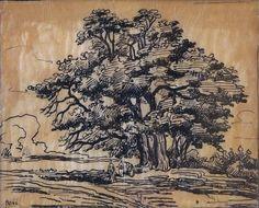 Peszke Jan Miroslaw , dit Jean Peské - Ink - Le Gros Rouvre - 17,9x23,7cm