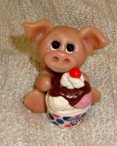 Pig with Ice cream Sundae!