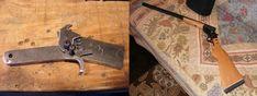 Building a simple break barrel shotgun from scratch - Homemade Shotgun, Derringer Pistol, Rubber Band Gun, Homemade Weapons, Medieval Weapons, Custom Guns, Diy Fire Pit, Cool Guns, Steel Plate