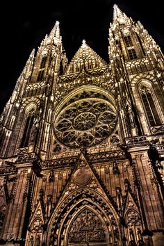 Saint Vitus' Cathedral – located within Prague Castle