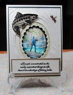 Let's go fishing! by JD from PAUSA - Cards and Paper Crafts at Splitcoaststampers