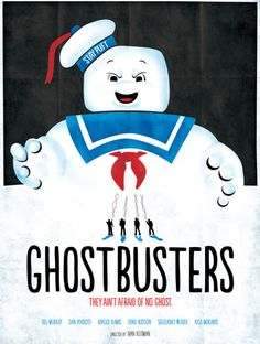 Minimalist Movie Poster: Ghostbusters by Wonderbros