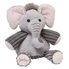"Baby Ollie the Elephant Scentsy Buddy    Wrinkly in all the right places, Baby Ollie the Elephant is 7"" tall when seated. He comes alive with fragrance when you place a Scent Pak in the zippered pocket in his back."
