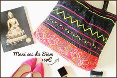 Grand sac vintage cuir et couleur
