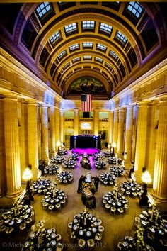 Cleveland's Grand Hall Rotunda located on Lakeside Avenue in Cleveland, Ohio is one of Northeast Ohio's premier venues. With pristine marble floors, stunning columns and an upper balcony the venue will keep your guests talking long after your wedding day. Cleveland City Hall, Cleveland Wedding Venue, Cleveland Rocks, Cleveland Ohio, Outdoor Wedding Venues, Wedding Events, Wedding Halls, Weddings, Wedding Ideas