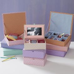 The Land of Nod | Girls Storage: Girls Fabric Storage Boxes in Tabletop Storage