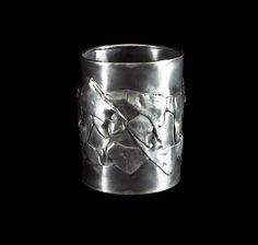 Bracelet by Horsecka Jewelry. Sterling silver, fine silver. #jewelry #jewellery #horsecka #annahorsecka