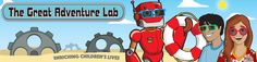 logo for the great adventure lab, science and stem enrichment for kids in DC and Deerfield, Illinois.