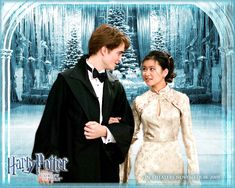 Cedric Diggory and Cho Chang at the Yule Ball