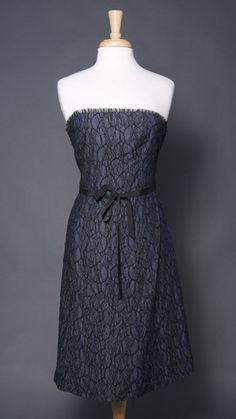 HELEN WANG NEW YORK Denim & Lace Dress, $175
