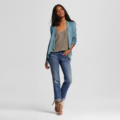 Women's High-rise Straight Leg Jeans Medium Wash 6R - Mossimo, Size: 6, Blue