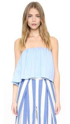 MILLY Strapless Top. #milly #cloth #top #shirt